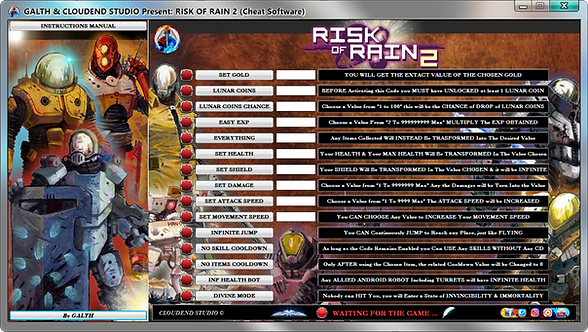 Risk Of Rain 2, ROR2, Cheats, Trainer, Mod, Codes, Cheat Engine, Cheat happens, Wemod, Fling Trainer, Mega Trainer, FRF,