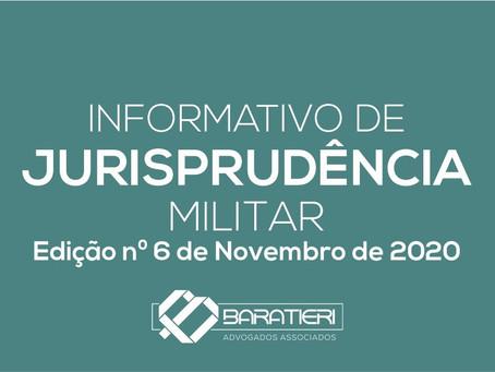 Informativo de Jurisprudência Militar - Edição n° 06 - Novembro/2020