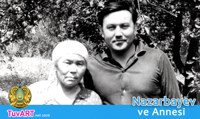Nazarbayev, Annesi Alzhan Hanım ile