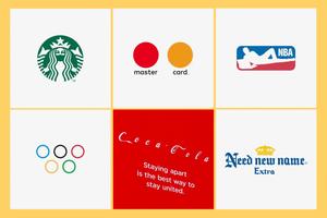 Starbucks, Master Card, NBA, Olympics, Coca-Cola, Corona logo rebranding
