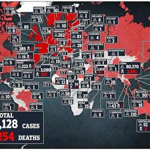 全球新冠病毒最新統計(03/22,18:40 PT)