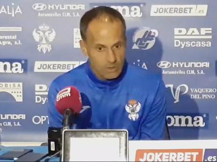 Declaraciones de Fran Alcoy tras el CF Talavera 1 CP Villarrobledo 0