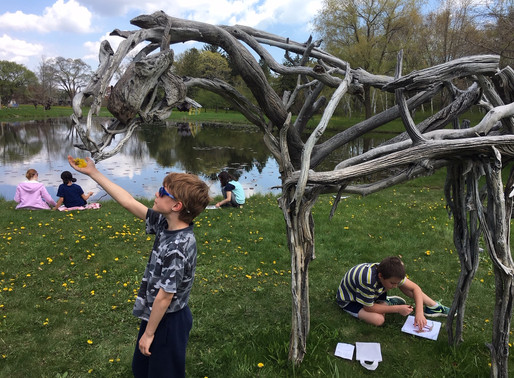 4th Grade trip to Lynden Sculpture Garden