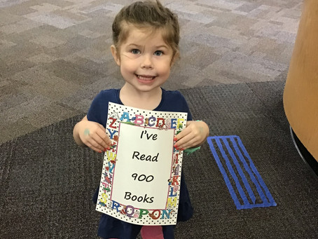 Submitted Picture - Riley hits 900 books!