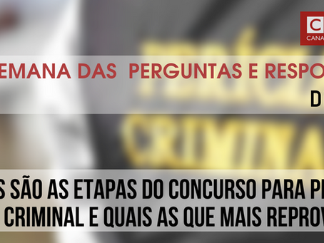 Etapas do concurso para Perito Criminal e quais as que mais reprovam