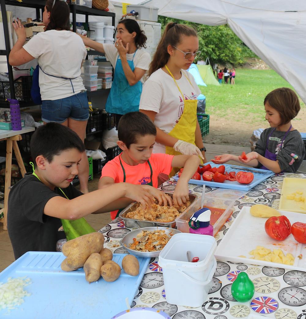 cocina sostenible actividades campamentos verano niños NewPa Inmersiones