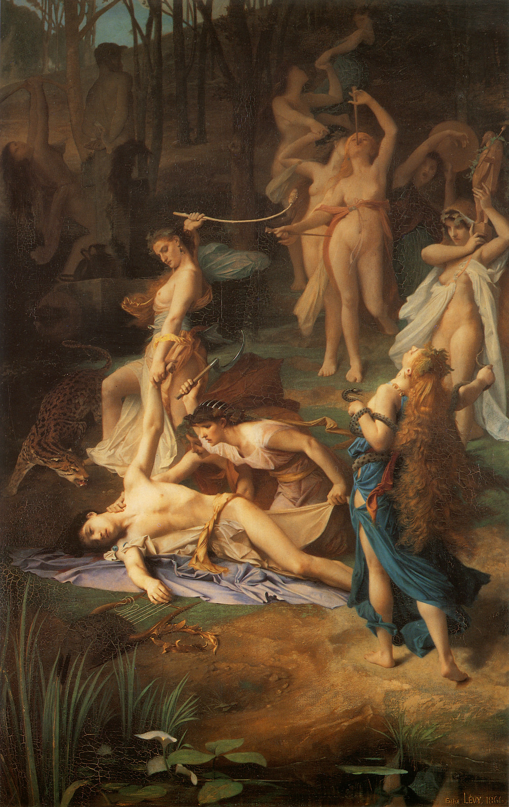 Death of Orpheus by Émile Lévy (1866)