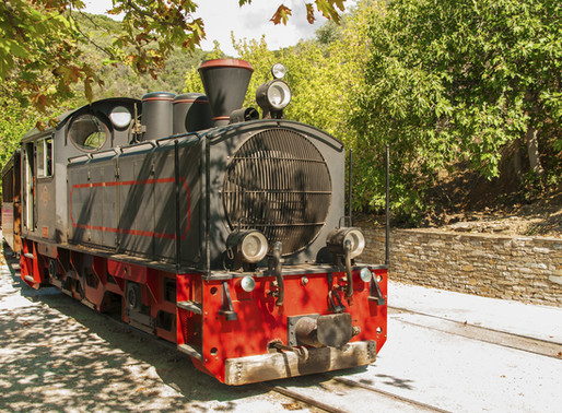 Moutzouris Traditional Steam Train | Pelion | Narrowest Railway Line in Greece