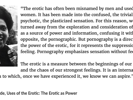 The Erotic as Power?