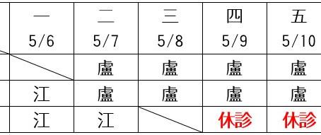 門診異動:江美麗婦產科五月門診