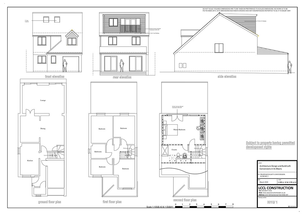 Architecture Design of Dormer Loft Conversion in St Albans, Hertfordshire AL1