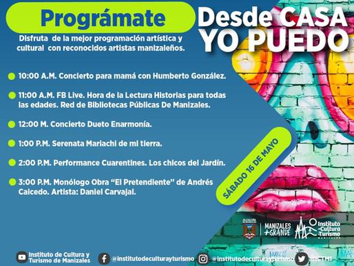 DISFRUTE DESDE CASA DE LA MEJOR PROGRAMACIÓN ARTÍSTICA Y CULTURAL CON EL ICTM