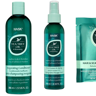 Soothe Your Scalp & Revitalise Your Tresses with HASK's New Tea Tree Oil & Rosemary Collection.