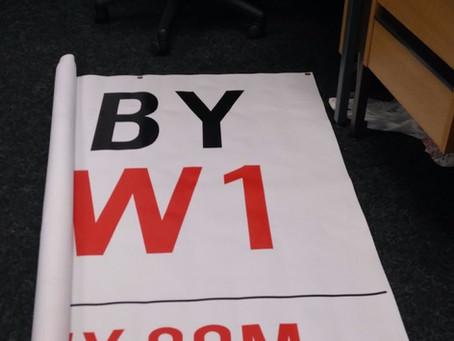 It's a BIG banner!