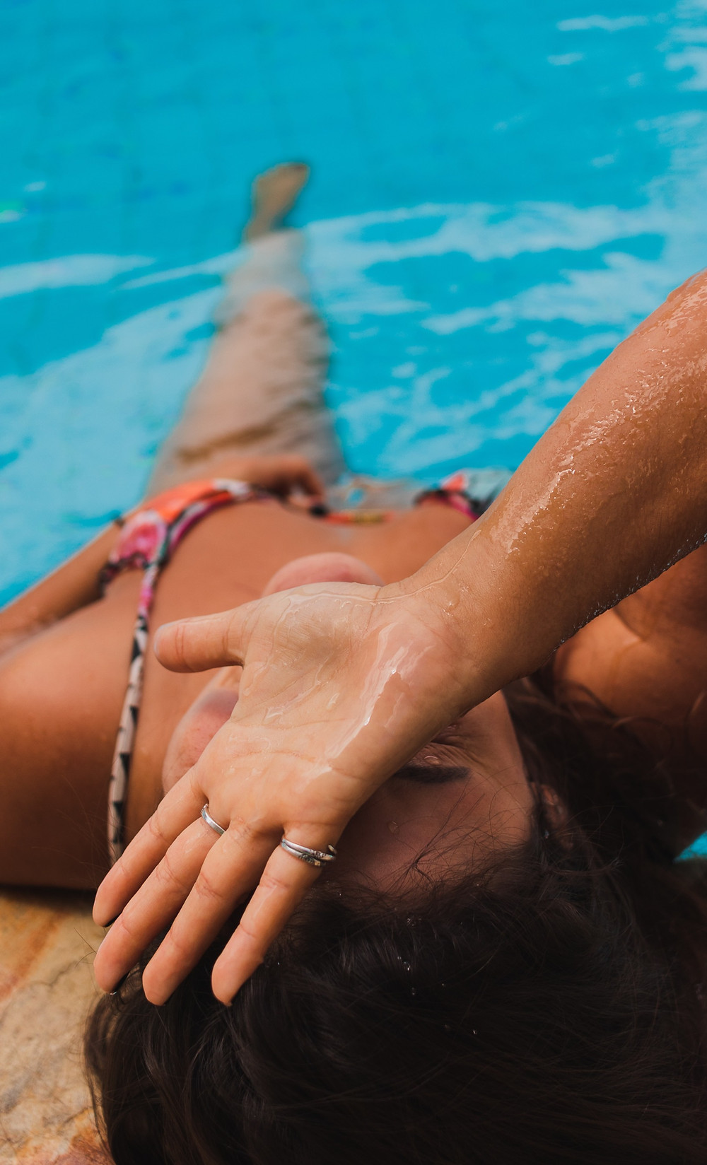 Avoid contact with chlorinated water in swimming, spa & mineral pools, Sulphur, lotions, cosmetics, hair products & hair dyes, perfumes.   When wearing perfume or hairspray allow it to dry well before putting on your jewellery.