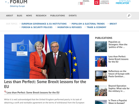 Less than Perfect: Some Brexit lessons for the EU