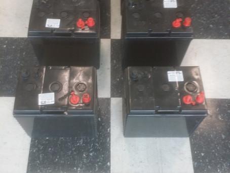 Set of AGM Golf Cart Batteries