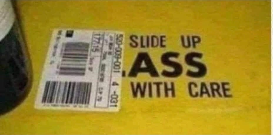 Slide Up Ass with Care