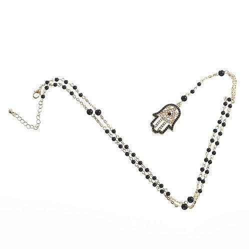 Hamsa Long Necklace