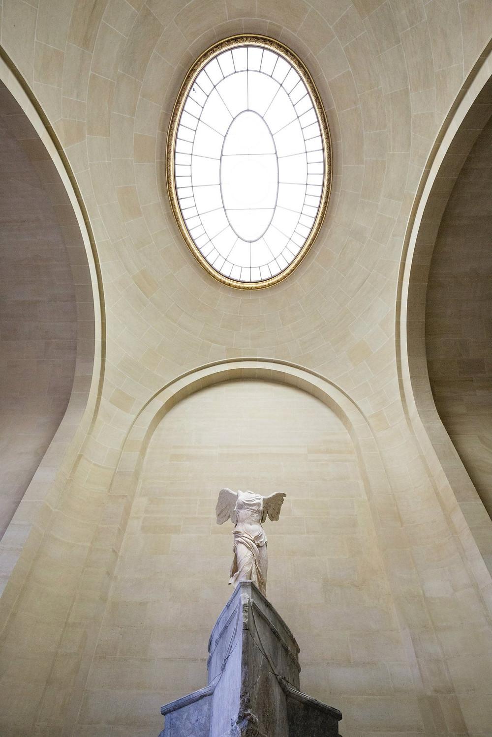 Winged Victory of Samothrace, Greek goddess, statue, Louvre, art sculpture, museum, dreamer, photography, Paris