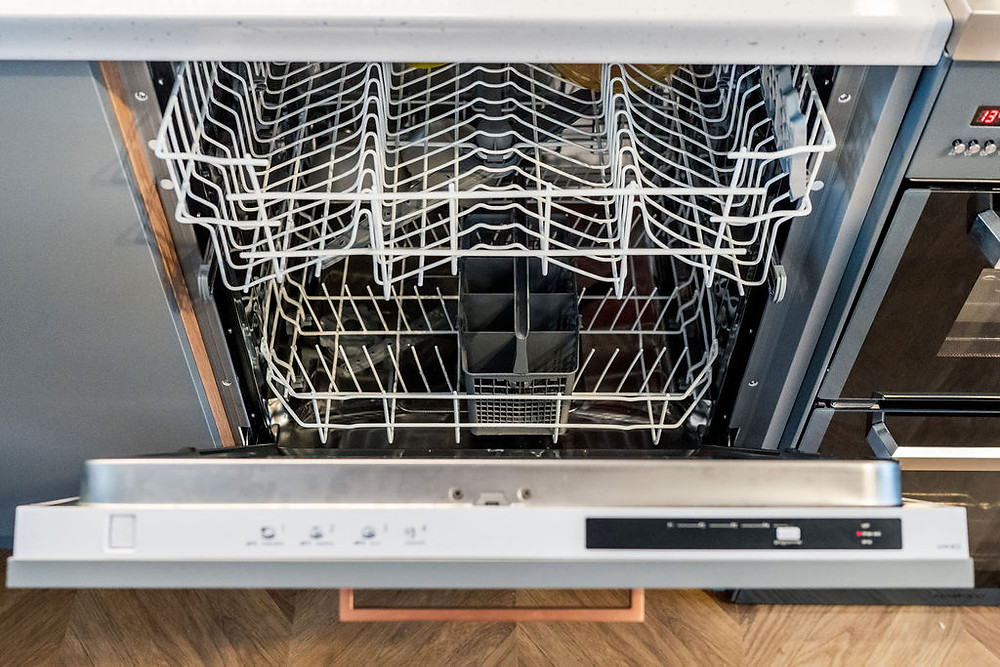 A built in dishwasher