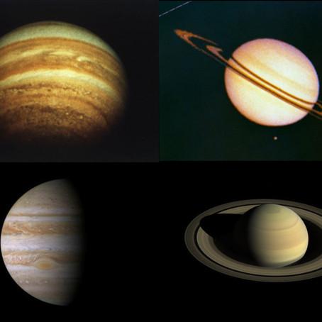 Jupiter and Saturn- NASA sky notes