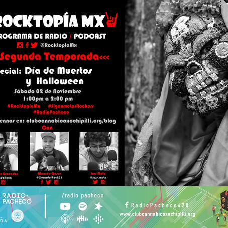 REVISTA #ROCKTOPIAMX 2a Temporada - Programa 11 Especial: #Halloween #DíaDeMuertos | #AlAire 🎧🎙🎚