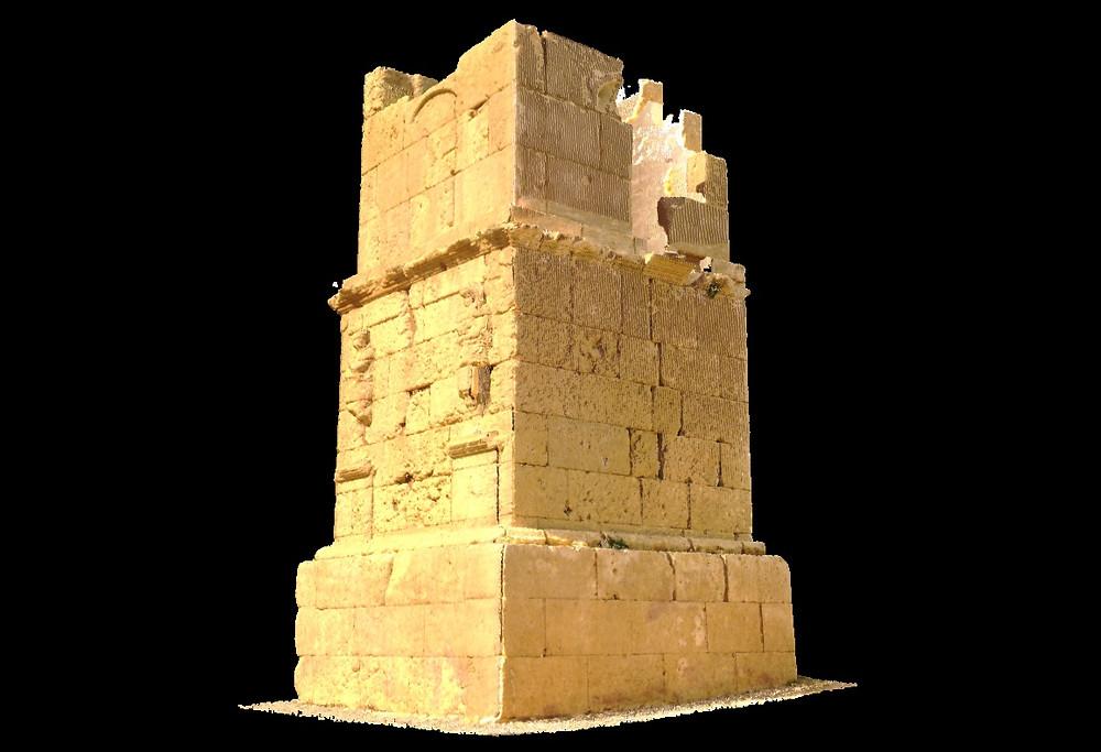 Escaneo láser 3d y digitalización de torre romana de los Escipiones