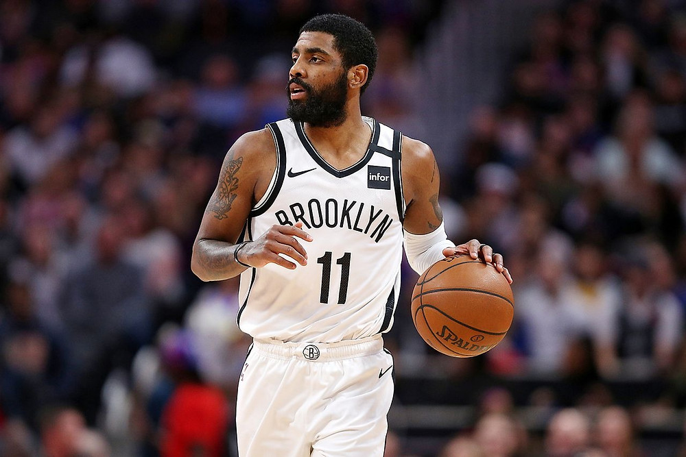 Brooklyn Nets guard Kyrie Irving against the Detroit Pistons at Little Caesars Arena in Detroit, on Saturday, January 25, 2020. (Mike Mulholland | MLive.com)Mike Mulholland