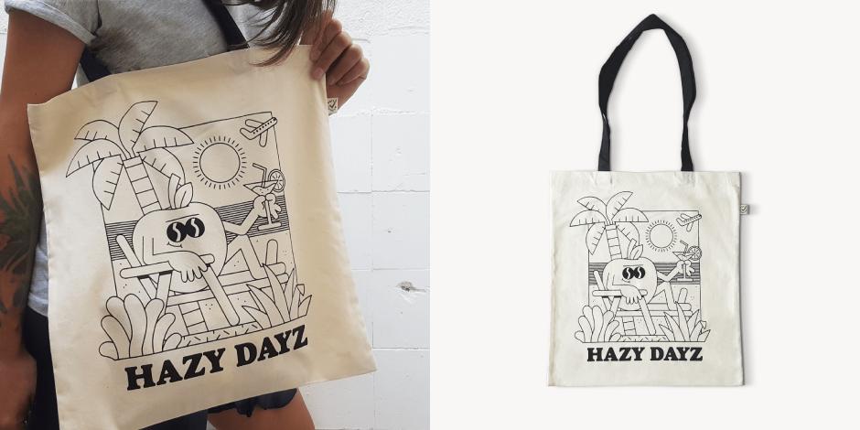 Hazy Dayz Totebag by Two One Studio