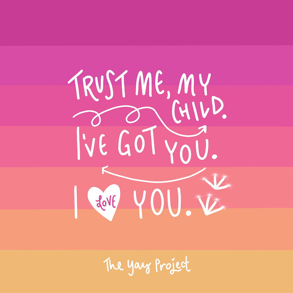 Trust God Christian graphic art by The Yay Project Jenni Lien