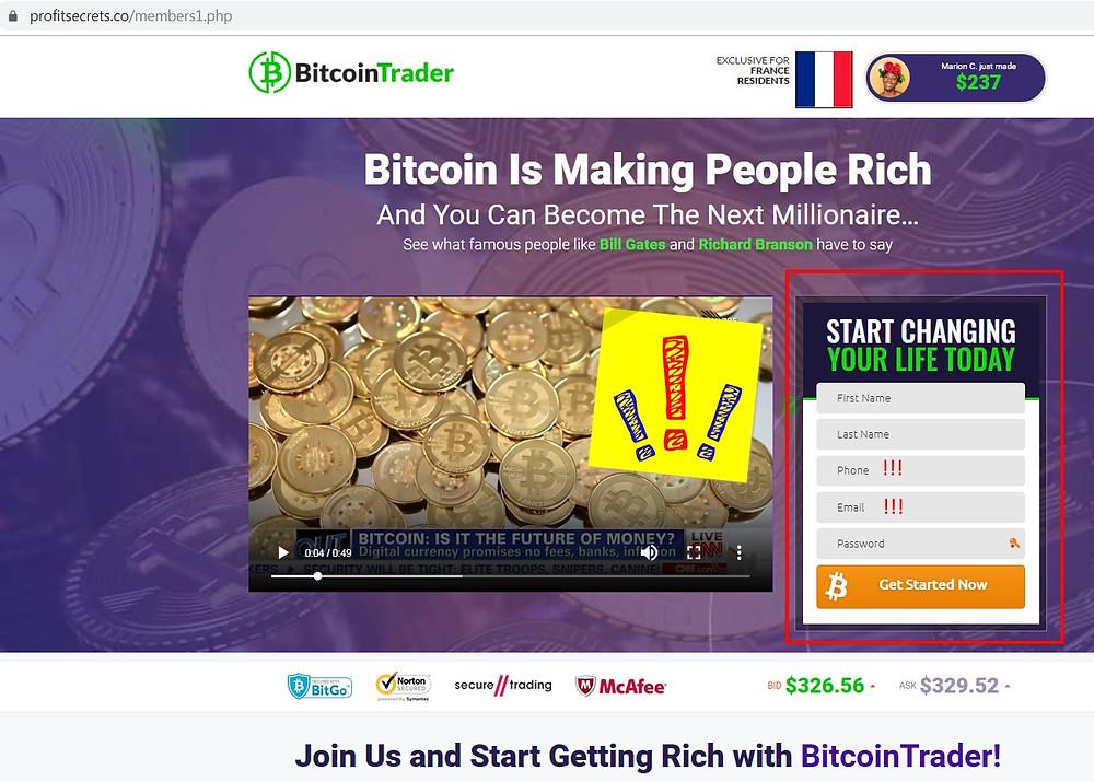 BitcoinTrader Arnaque