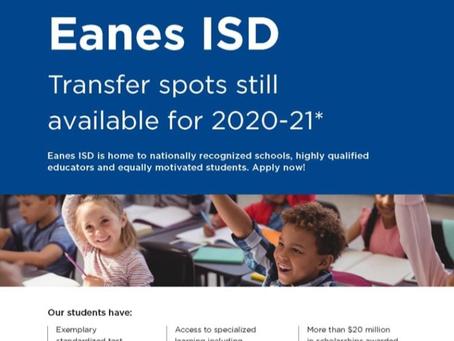 Transfer to Eanes ISD
