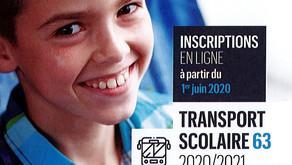 Inscription au transport scolaire 2020 - 2021 avant le 20 juillet