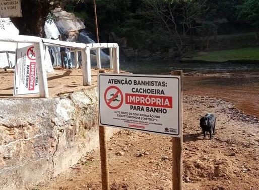 Principal ponto turístico de Cachoeira do Brumado é interditado por ofertar risco de contaminação