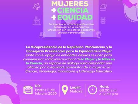 Encuentro mujeres + ciencia + equidad
