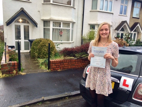 Congratulations Hannah.  Great achievement passing First Time with 1 minor fault. Almost perfect!