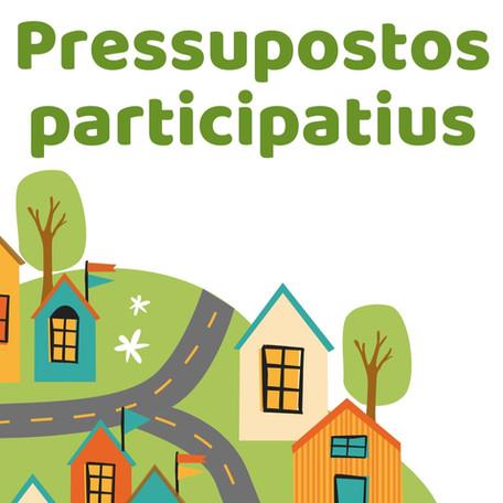 Arrenquen els pressupostos participatius! Digues en què cal gastar fins a 15.000€!