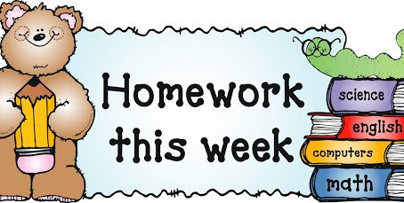 Homework - Friday 5th June