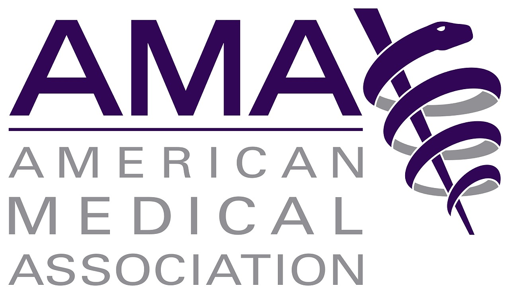 The American Medical Association (AMA) logo on a transparent background.