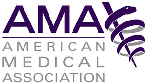 The American Medical Association (AMA) logo on a transparent background.