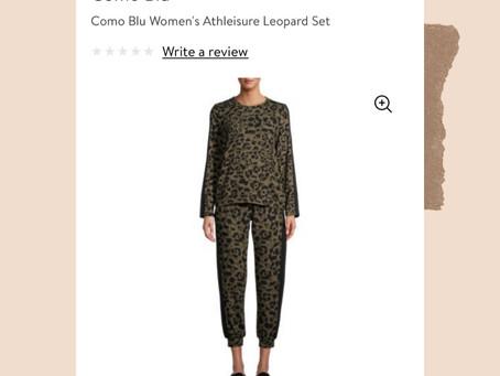 Walmart Leopard Pajamas