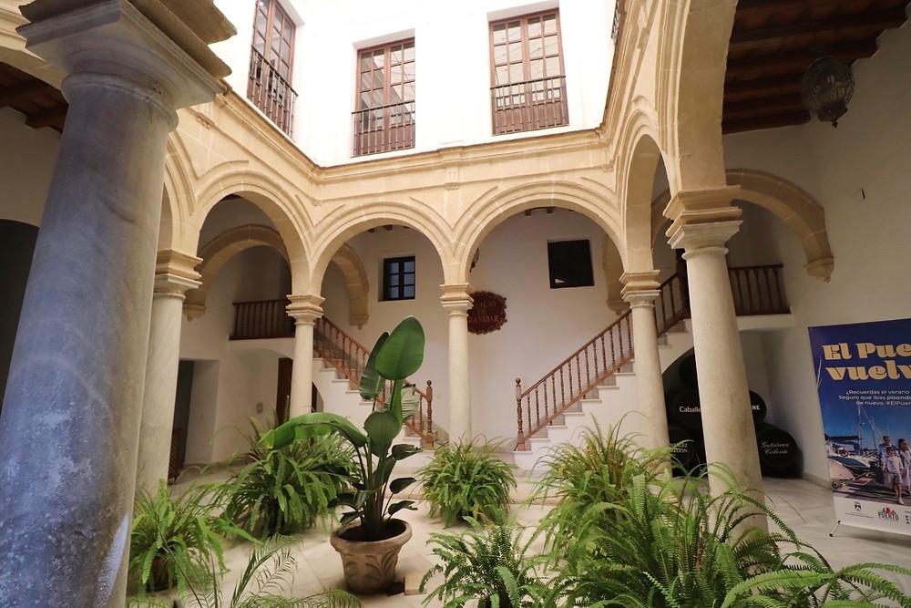 Palacio de Aranibar inside the tourism office in El Puerto de Santa Maria, Cadiz, Spain