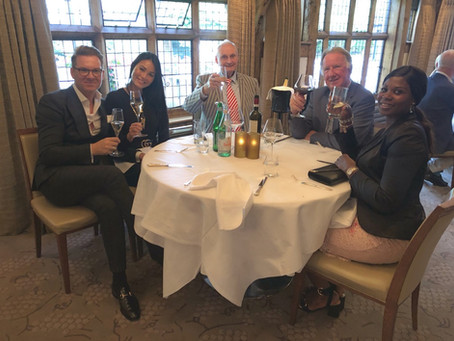 Oakmount and Partners Ltd. Lunch at La Talbooth With Some Of Our Clients.