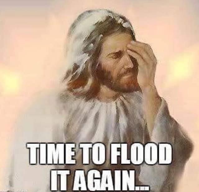 Funny Jesus Flood Meme