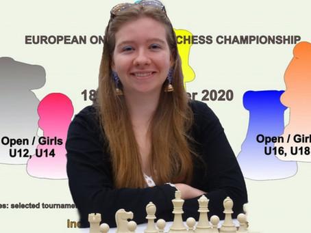 EUROPEAN ONLINE YOUTH CHESS CHAMPIONSHIP 2020: 4.Platz im Einzel und Silbermedaille im Team