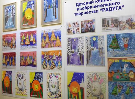 «Зимняя сказка» - выставка творческих работ детей Рождествено в ДК «Заволжье»