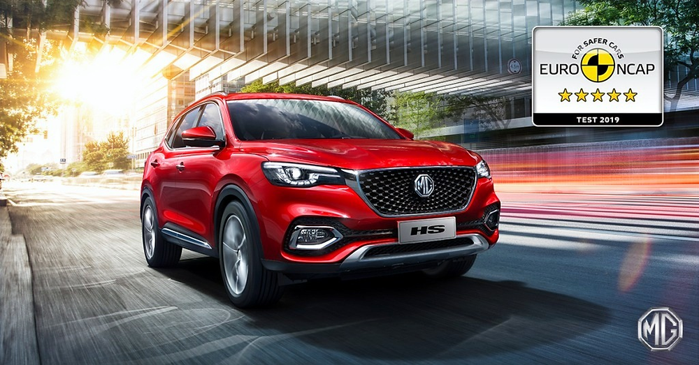 All-New MG ZS EV and MG HS awarded five-star safety ratings by Euro NCAP