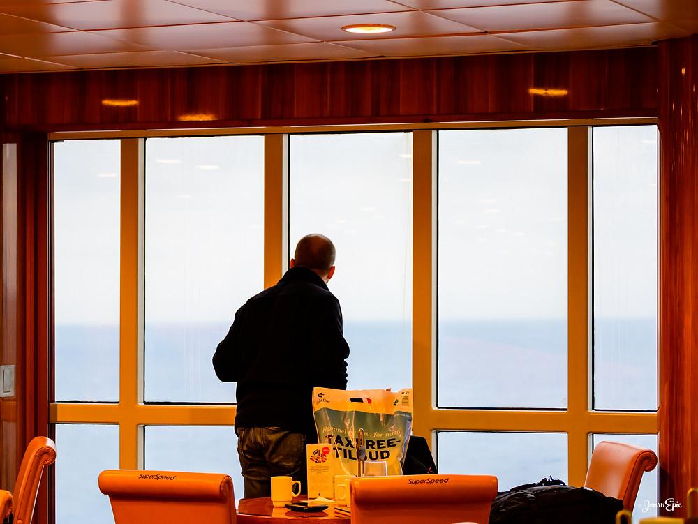 Aboard Color Line ferry, Color Line Ferry to Hirtshals, Crossing Skagerrak strait