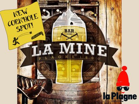 New Cornhole Spot : bar La Mine a La Plagne